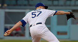 June 10, 2017 - Los Angeles, California, U.S. - Los Angeles Dodgers starting pitcher Alex Wood throws to the plate against the Cincinnati Reds in the first inning of a Major League baseball game at Dodger Stadium on Saturday, June 10, 2017 in Los Angeles. (Photo by Keith Birmingham, Pasadena Star-News/SCNG) (Credit Image: © San Gabriel Valley Tribune via ZUMA Wire)