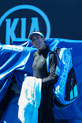 January 10, 2019 - Melbourne, VIC, U.S. - MELBOURNE, VIC - JANUARY 11: SIMONA HALEP (ROU) during day practice day of the 2019 Australian Open on January 11, 2019 at Melbourne Park Tennis Centre Melbourne, Australia (Photo by Chaz Niell/Icon Sportswire) (Credit Image: © Chaz Niell/Icon SMI via ZUMA Press)