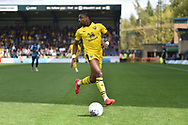 Oxford United striker Jonathan Obika (20) looks for options during the EFL Sky Bet League 1 match between Wycombe Wanderers and Oxford United at Adams Park, High Wycombe, England on 15 September 2018.
