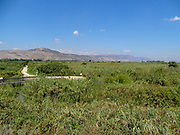 Israel, Hula Valley, Agmon lake landscape