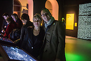 CLAIRE CATTERALL; MARCUS LYON, Big Bang data exhibition, Somerset House. London. 2 December 2015