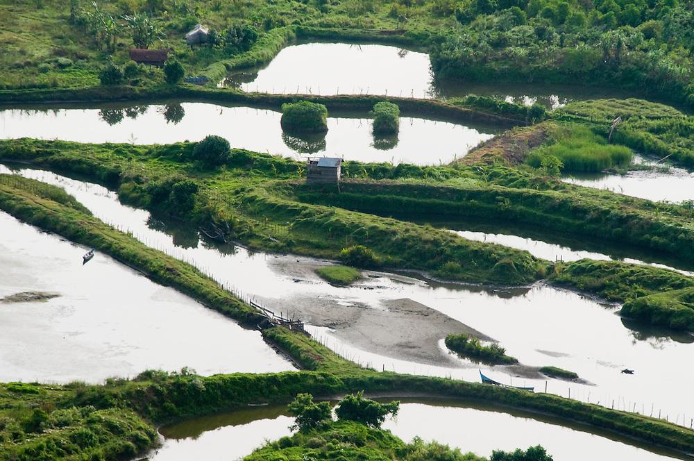 Indonesia, Sumatra, Aceh.  Fish farms