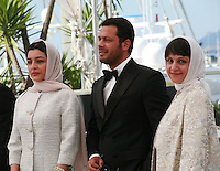Actress Sareh Bayat, actor Pejman Bazeghi and director Ida Panahandeh at the Nahid film photo call at the 68th Cannes Film Festival Sunday May 17th 2015, Cannes, France.