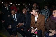 COLIN JACKSON; USAIN BOLT; JOCHEN ZEITZ; ; , Fundraising Gala for the Zeitz foundation and Zoological Society of London hosted by Usain Bolt. . London Zoo. Regent's Park. London. 22 November 2012.