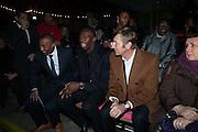 COLIN JACKSON; USAIN BOLT; JOCHEN ZEITZ; ; , Fundraising Gala for the Zeitz foundation and Zoological Society of London hosted by Usain Bolt. . London Zoo. Regent's Park. London. 22 November 2012.