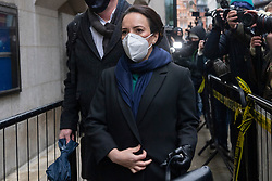 © Licensed to London News Pictures. 04/01/2021. London, UK. Stella Moris arrives to attend the WikiLeaks founder JULIAN ASSANGE court case to extradite him to the United Stated to face espionage charges for publishing US military documents. Photo credit: Ray Tang/LNP