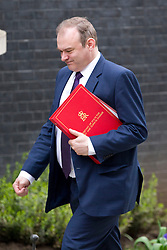 © Licensed to London News Pictures. 18/03/2014. London, UK. The Energy and Climate Secretary, Ed Davey, arrives for a meeting of the British cabinet on Downing Street in London today (18/03/2014). Photo credit: Matt Cetti-Roberts/LNP