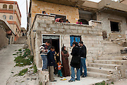 UNCHR visites a family of Syrian refugees who arrived exhausted on March 10th, 2012 in the village El Fakha, Lebanon, after a bombardment on March 9th, 2012 which destroyed their house in Zahra.