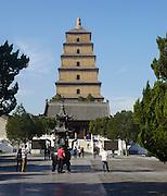 China, Xian Shaanxi, Big Wild Goose Pagoda