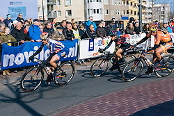 Megan Guarnier, Nikki Harris and Alexis Ryan are happy to let the break go up the road with both teams having riders in the escape - Ronde van Drenthe 2016, a 138km road race starting and finishing in Hoogeveen, on March 12, 2016 in Drenthe, Netherlands.
