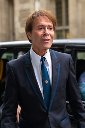 © Licensed to London News Pictures. 23/04/2018. London, UK. SIR CLIFF RICHARD arrives at the Rolls Building of the High Court in London where he is claiming damages against the BBC for loss of earnings. The 77-year-old singer is suing the corporation after his home in Sunningdale, Berkshire was raided following allegations of sexual assault made to Metropolitan Police. Photo credit: Rob Pinney/LNP