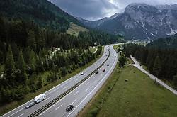 THEMENBILD - Verkehr auf der A10 Tauernautobahn, aufgenommen am 27. Juli 2019 in Flachau, Österreich // Traffic on the A10 Tauernautobahn, Flachau, Austria on 2019/07/27. EXPA Pictures © 2019, PhotoCredit: EXPA/ JFK