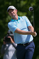 May 25, 2018 - Forth Worth, TX, U.S. - FORT WORTH, TX - MAY 25: Justin Rose of England hits his tee shot on #6 during the second round of the Fort Worth Invitational on May 25, 2018 at Colonial Country Club in Fort Worth, TX. (Photo by Andrew Dieb/Icon Sportswire) (Credit Image: © Andrew Dieb/Icon SMI via ZUMA Press)