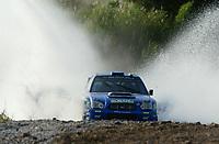 AUTO - WRC 2003 - CYPRUS RALLY -  20030622 - <br />N¡ 7 - PETTER SOLBERG - PHILL MILLS / SUBARU IMPREZA WRC - ACTION<br />PHOTO : FRANCOIS BAUDIN / DIGITALSPORT