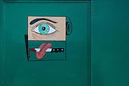 Evil eye in Gibara, Holguin, Cuba.