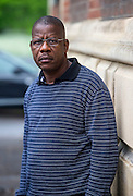 Victims Father Philippe Gboho Pictured outside Court this morning<br />