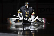 LAS VEGAS, NV - FEBRUARY 15: skates against the Edmonton Oilers during the game at T-Mobile Arena on February 15, 2018 in Las Vegas, Nevada. (Photo by Jeff Bottari/NHLI via Getty Images) *** Local Caption ***