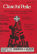 Interprovincial Railway Cup Football Cup Final, 27.03.1978, 03.27.1978, 27th March 1978,Ulster 2-07, Munster 2-07, .