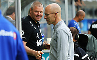 fotball, tippeliga, eliteserien, start, strømsgodset  14.september 2014<br /> Mons Ivar Mjelde, Start<br /> Bob Bradley, Stabæk<br /> <br /> Foto: Ole Fjalsett