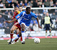 Photo: Mark Stephenson.<br />Birmingham City v Reading. The FA Cup. 27/01/2007.<br />Birmingham's Fabrice Muamba on the ball