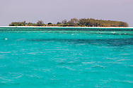 Clear blue sea and Mnemba Island near Zanzibar, Tanzania
