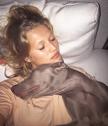 """Toni Garrn releases a photo on Instagram with the following caption: """"Throwback to some of the best cuddles #happyVday \ud83d\udc93 #tbt"""". Photo Credit: Instagram *** No USA Distribution *** For Editorial Use Only *** Not to be Published in Books or Photo Books ***  Please note: Fees charged by the agency are for the agency's services only, and do not, nor are they intended to, convey to the user any ownership of Copyright or License in the material. The agency does not claim any ownership including but not limited to Copyright or License in the attached material. By publishing this material you expressly agree to indemnify and to hold the agency and its directors, shareholders and employees harmless from any loss, claims, damages, demands, expenses (including legal fees), or any causes of action or allegation against the agency arising out of or connected in any way with publication of the material."""