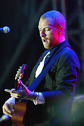 Chris Martin of Coldplay on main stage, Sunday at T in the Park, 2003..Pic ©2010 Michael Schofield. All Rights Reserved.