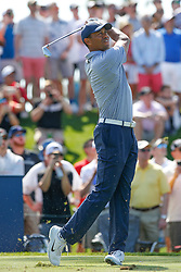 March 15, 2019 - Ponte Vedra Beach, Florida, U.S. - TIGER WOODS of the United States plays a shot on the third hole during the second round of THE PLAYERS Championship on the Stadium Course at TPC Sawgrass in Ponte Vedra Beach, Fl.  (Credit Image: © David Rosenblum/Icon SMI via ZUMA Press)