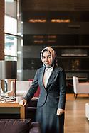 Hatice Karahan, the new economic advisor to Turkish president Erdogan. Ankara, Turkey, 14th March 2018.