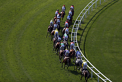 File photo dated 15-06-2021 of Runners and riders at Ascot. Conditions at Ascot for Qipco British Champions Day look like being on the soft side of good with the weather set relatively fair for the rest of the week. Racecourse. Issue date: Monday October 11, 2021.