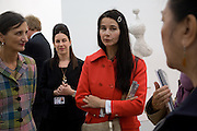MAUREEN PALEY; ARTIST; GILLIAN WEARING, Frieze Art Fair 2008. Regent's Park. London. 15 October 2008