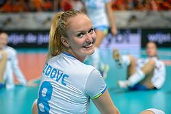 28-09-2015 NED: Volleyball European Championship Polen - Slovenie, Apeldoorn<br /> Polen wint met 3-0 van Slovenie / Anja Zdovc<br /> Photo by Ronald Hoogendoorn / Sportida