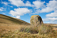 Maen Mawr standing stone, Black Mountain, Brecon Beacons national park, Wales