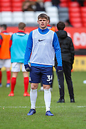 Southend United forward Charlie Kelman (34) warms up prior to the EFL Sky Bet League 1 match between Charlton Athletic and Southend United at The Valley, London, England on 9 February 2019.