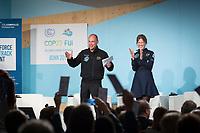 DEUTSCHLAND - BONN - Bertrand Piccard an der Präsentation der 'World Alliance for Efficient Solutions' der Solar Impulse Foundation, auf der Klimakonferenz COP 23 Fiji in Bonn - 14. November 2017 © Raphael Hünerfauth - http://huenerfauth.ch