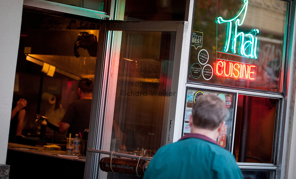 2016 October 10 - Thai Cuisine in the University District, Seattle, WA, USA. By Richard Walker
