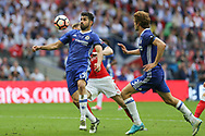 Chelsea's Diego Costa(19) controls the ball during the The FA Cup final match between Arsenal and Chelsea at Wembley Stadium, London, England on 27 May 2017. Photo by Shane Healey.