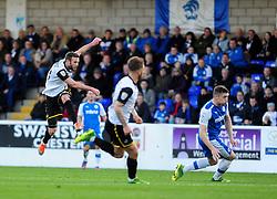 Bristol Rovers' Andy Monkhouse gets a shot away - Photo mandatory by-line: Neil Brookman/JMP - Mobile: 07966 386802 - 22/11/2014 - Sport - Football - Chester - Deva Stadium - Chester v Bristol Rovers - Vanarama Football Conference