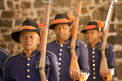 June 3, 2016 - guard  in historic uniform during the Key Ceremony at the Castle of Good Hope,  Cape Town, Western Cape, South Africa (Credit Image: © AGF via ZUMA Press)