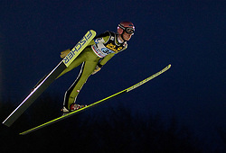 Lukas Mueller (AUT) competes during First round of the FIS Ski Jumping World Cup event of the 58th Four Hills ski jumping tournament, on January 6, 2010 in Bischofshofen, Austria. (Photo by Vid Ponikvar / Sportida)