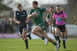 March 2, 2019 - Galway, Ireland - Kyle Godwin of Connacht runs with the ball during the Guinness PRO 14 match  between Connacht Rugby and Ospreys at the Sportsground in Galway, Ireland on March 2, 2019  (Credit Image: © Andrew Surma/NurPhoto via ZUMA Press)