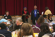 "19 January 2015-Santa Barbara, CA: Community Lunch at the First United Methodist Church (Rev. Mark Richardson and Rev. Alan Strout). Santa Barbara Honors Dr. Martin Luther King Jr. with a Day of Celebration.  The Santa Barbara MLK, Jr. Committee chose ""Drum Majors for Justice"" as it's theme for the day which included a Pre-March Program in De la Guerra Plaza followed by a march up State Street to the Arlington Theater for speakers, music and poetry.  The program concluded with a Community Lunch at the First United Methodist Church in Santa Barbara.  Photo by Rod Rolle"