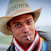 Marlboro man smoking in cowboy hat, Egypt (January 2008)