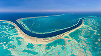 Aerial image of the Great Barrier Reef, Australia