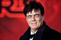 Benicio del Toro attending the european premiere of Star Wars: The Last Jedi held at The Royal Albert Hall, London.