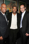 l to r: Noel Hankin, D-Nice and Guest at The ImageNation celebration for the 20th Anniversary of ' Do the Right Thing' held Lincoln Center Walter Reade Theater on February 26, 2009 in New York City. ..Founded in 1997 by Moikgantsi Kgama, who shares executive duties with her husband, Event Producer Gregory Gates, ImageNation distinguishes itself by screening works that highlight and empower people from the African Diaspora.