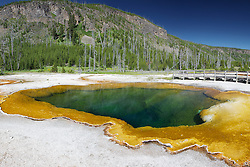Emerald Pool of Black Sand Basin in Yellowstone National Park