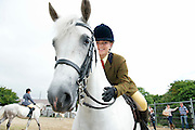 09/08/2012 Repro free first use. .Repro free first use. Vicki Ryan with her horse Newtown Blossom from Co.Limerick at the Connemara Pony Show in Clifden County Galway . Photo:Andrew Downes.