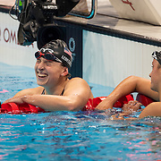 TOKYO, JAPAN - JULY 31:  Katie Ledecky of the United States reacts after winning the  800m Freestyle for women during the Swimming Finals at the Tokyo Aquatic Centre at the Tokyo 2020 Summer Olympic Games on July 31, 2021 in Tokyo, Japan. (Photo by Tim Clayton/Corbis via Getty Images)