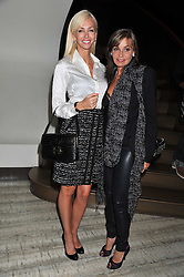 Left to right, AMANDA CRONIN and CAROLE SILLER at a party to launch PRPS's new luxury denim line called Noir whilst raising money for UNICEF Japan, held at Nobu Berkeley Street, London on 5th September 2011.